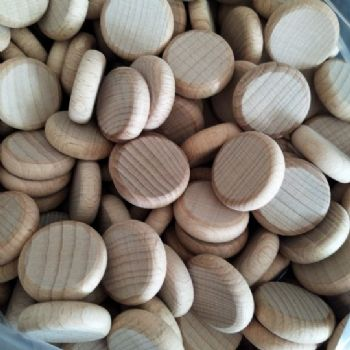 hardwood beech wood  counters, discs, coins.  Peg Doll fairy garden game counters